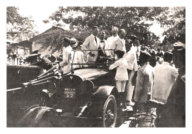 Hellmut von Krohn llegando a Girardot 19 oct 1920