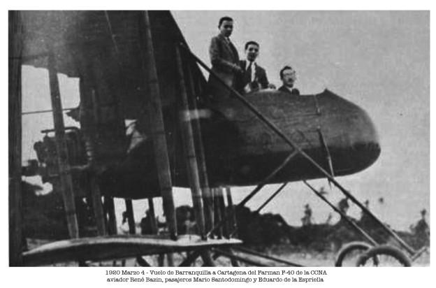 Avión Farman F-40 de la CCNA el 4 Marzo de 1920