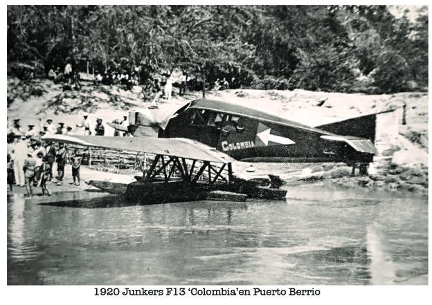 1920 Septiembre 10 Junkers F13 ?Colombia? de SCADTA en Puerto Berrio
