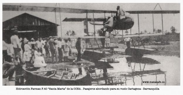 """Hidroavión Farman F.40 """"Santa Marta"""""""
